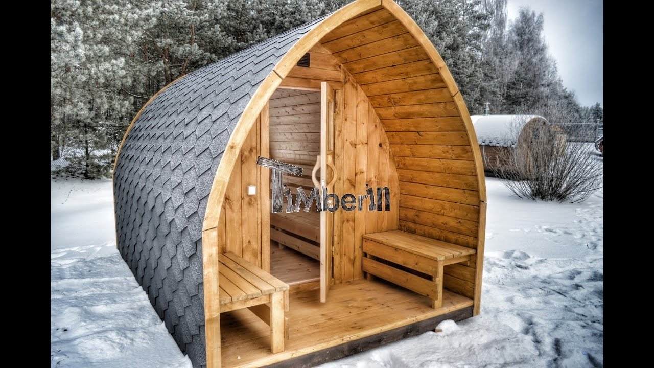Outdoor barrel igloo saunas for sale electric wood for Build a wood burning sauna