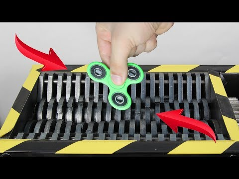 Toys Review Fidget Spinner And Toys VS Shredder | The Crusher