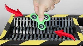 experiment shredding fidget spinner   the crusher