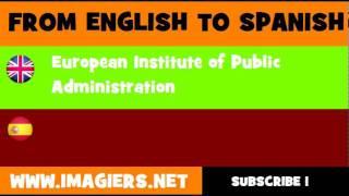 ESPAÑOL = INGLÉS = Instituto Europeo de Administración Pública