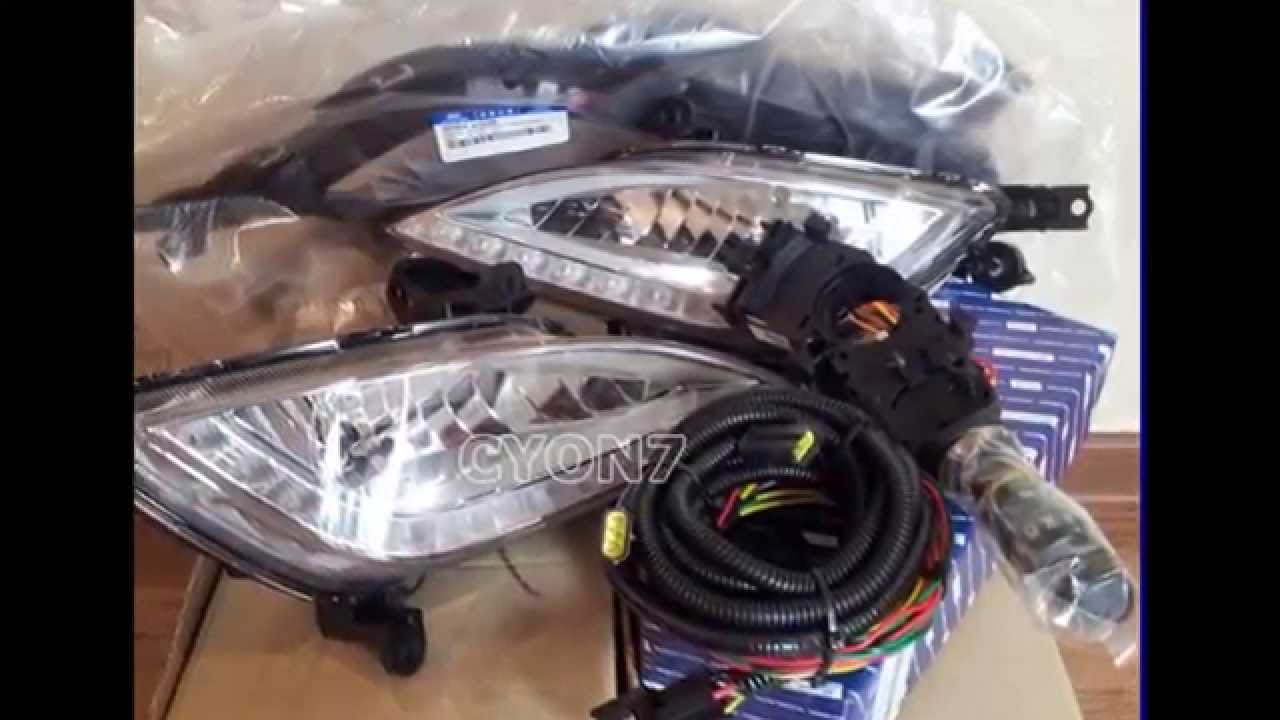 2013 2017 hyundai i30 elantra gt fog light complete kit wiring harness led drl youtube [ 1280 x 720 Pixel ]