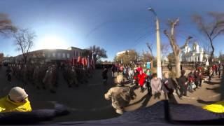 Видео 360: парад в Симферополе в честь второй годовщины воссоединения с РФ