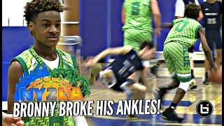 LeBron James Jr BREAKS Defender
