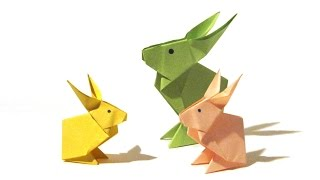 Easter Origami Rabbit - Tutorial - How to make an origami rabbit
