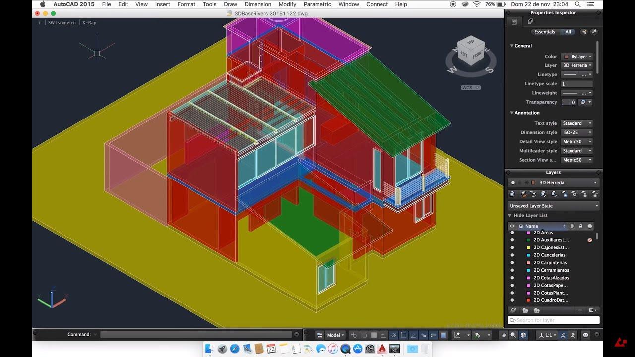UNION Comando de AutoCad, para unir objetos sólidos en 3D