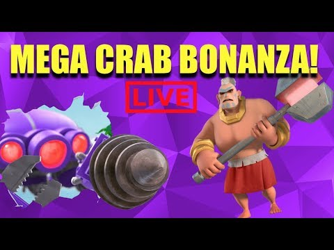 MEGA CRAB LIVE TWO ACCOUNTS - STAGES 40+