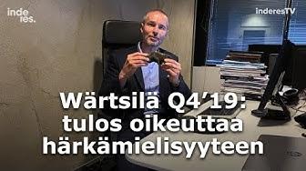 Wärtsilä Q4'19: Tulos oikeuttaa härkämielisyyteen