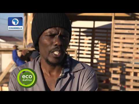 Kelvin Kimwele Builds Ecofriendly Houses From Shipping Pallets In S/Africa |Eco@Africa| [2017]