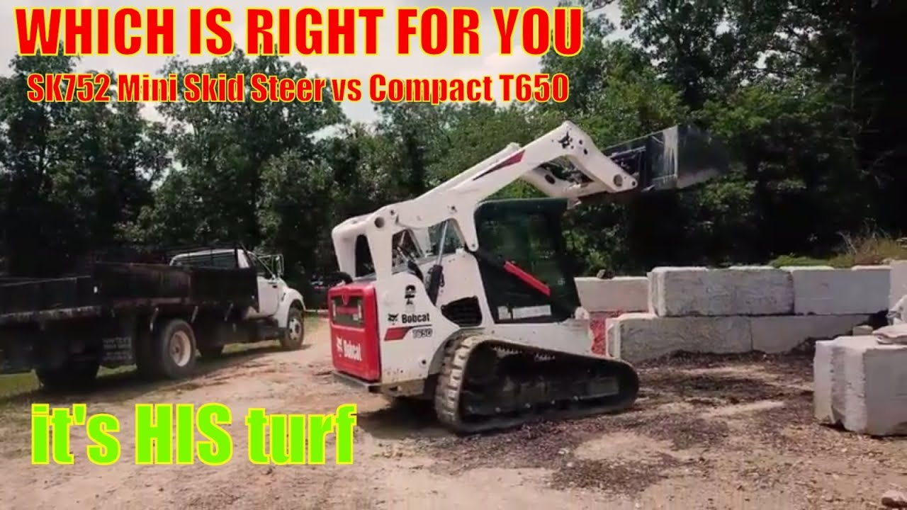 Bobcat T650 or Ditch Witch SK752: Equipment Comparison
