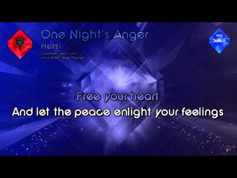 "Hersi - ""One Night's Anger"" (Albania) - [Karaoke Style]"