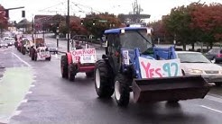 Farmers tractor through Portland for Measure 92!