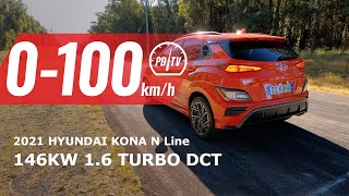 2021 Hyundai Kona N Line 0-100km/h \u0026 engine sound