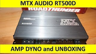 MTX Audio RT500D Amp Dyno and Unboxing