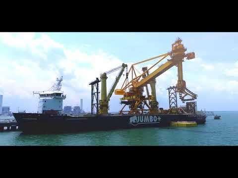 Jumbo's Fairmaster discharges 1283t continuous ship unloader  in Port Dickson, Malaysia