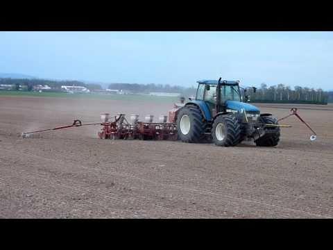 high efficient corn seeding in Lower Bavaria