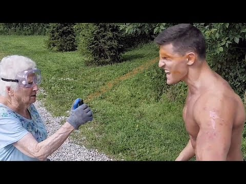 Grandma Pepper Sprays Body Builder ft. Houston Jones