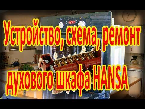 Устройство, схема, ремонт духового шкафа HANSA