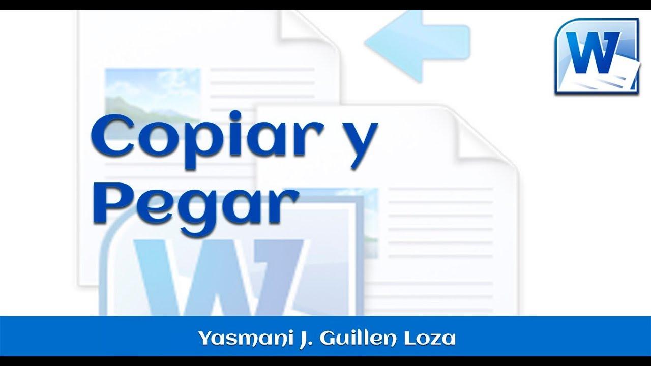 Copiar y pegar Word 2010 - YouTube