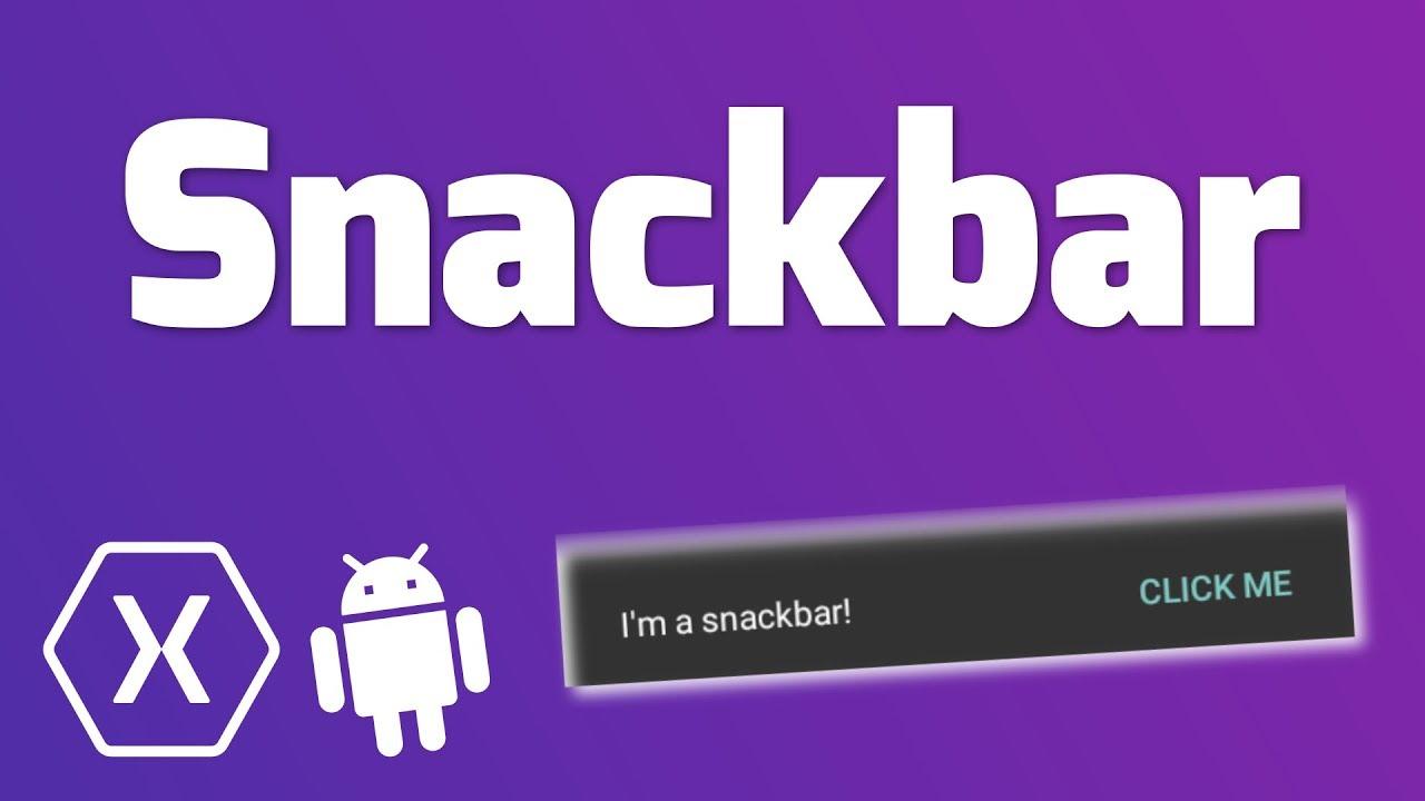 SNACKBAR – Quick Tutorial (Xamarin Android) (Code) – Reso Coder