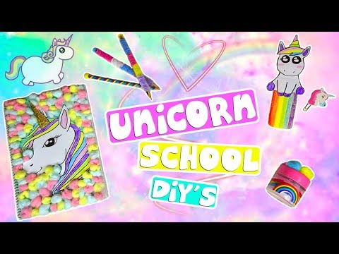 6 DIY UNICORN SCHOOL (FAI DA TE) BACK TO SCHOOL 2017 (ita) / SalvoeVale
