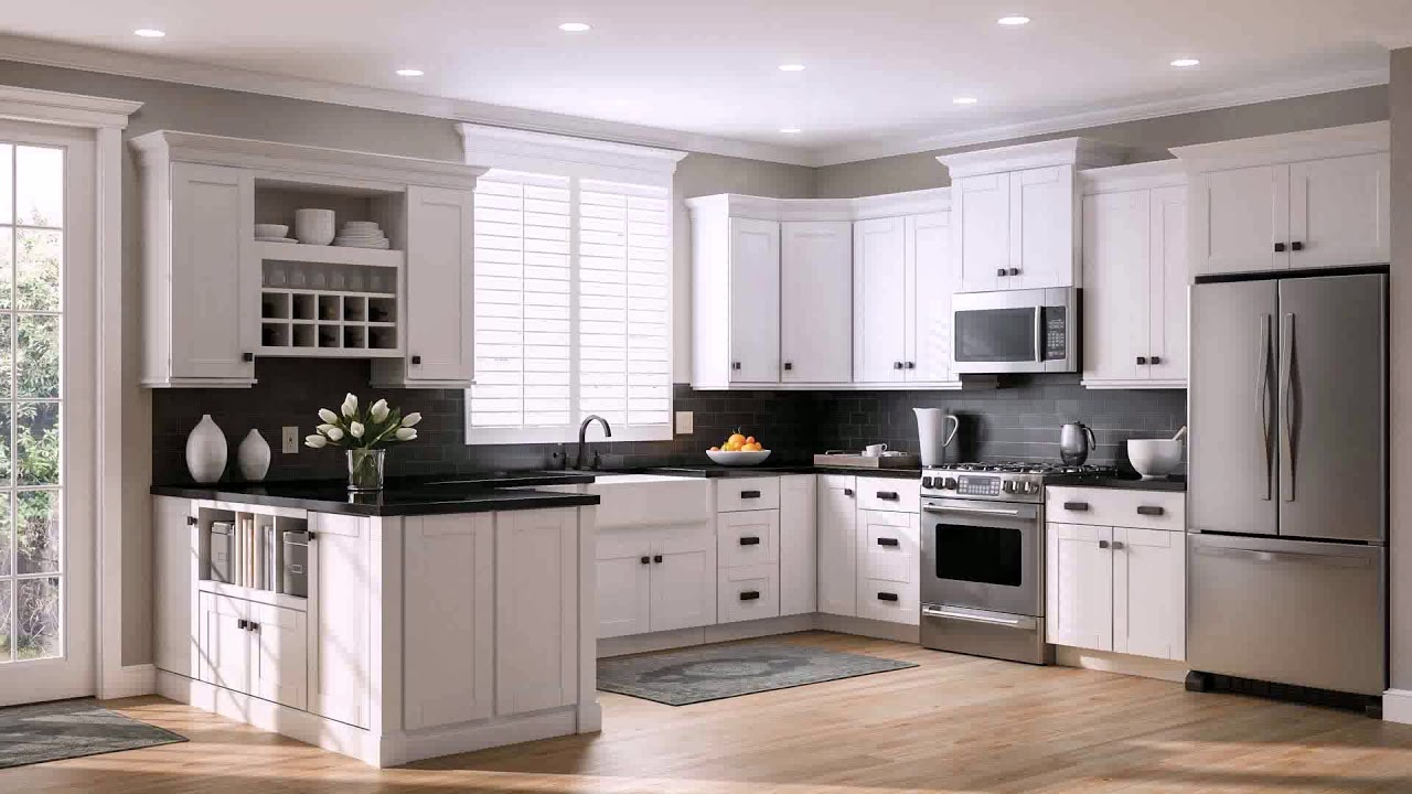 White Kitchen Cabinets With Black Knobs Youtube