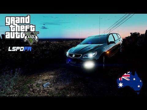 GTA 5 - Australian Police Mod - VICPOL Highway Patrol Slicktop Wagon (Play GTA V as a cop mod LIVE)