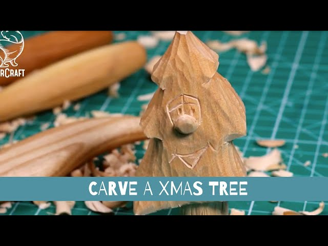 Christmas Tree 🎄 Carving Tutorial I Easy Wood Carving for Beginners