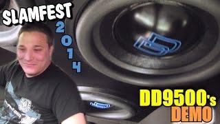 Digital Designs Subwoofers WALLED on 7000 Watts w/ Corey's Sundown SAZ3500D Bass Amps & DD9500 Subs