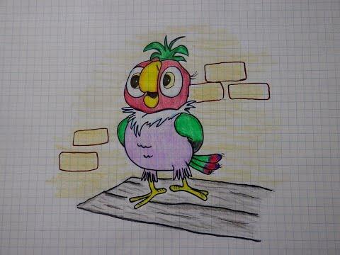 Как раскрасить попугая кешу красиво
