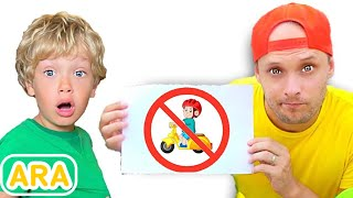 ليف وأبيه في قواعد سلوك بسيطة للأطفال