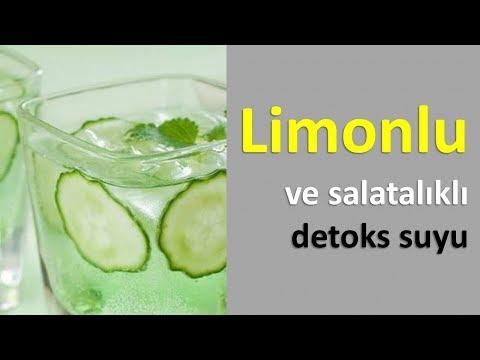 Limonlu ve salatalıklı detoks suyu