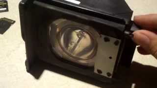 A close look at a rear projection TV lamp