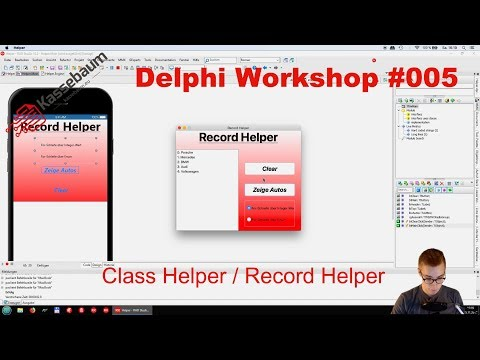 Class Helper / Record Helper  -  Delphi Workshop #005