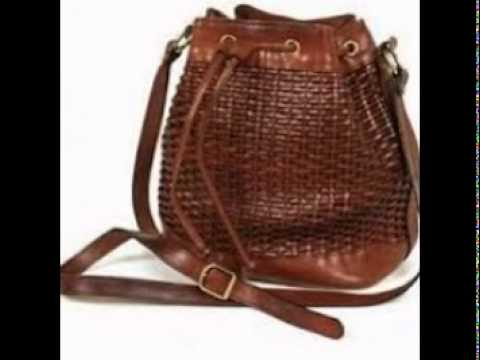 Ideal Woven leather handbags - YouTube VT65