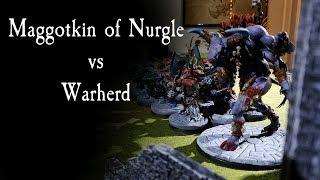 Maggotkin of Nurgle vs Warherd - 1k AOS