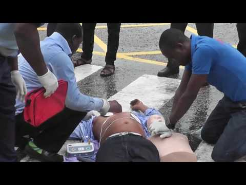 CPR Simulation exercise by operatives of the Rapid Response Squad (RRS)