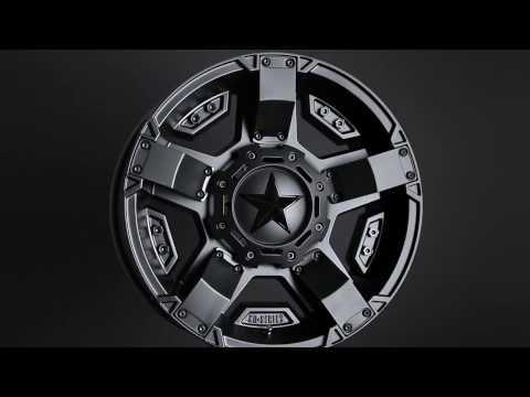 Rockstar XD811 Series RS2 Black Finish Wheels Rims