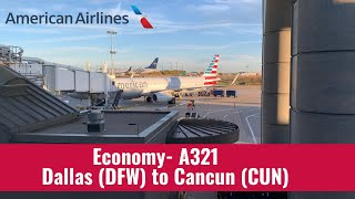 Video American | A321 | Economy | Dallas (DFW) To Cancun (CUN) download MP3, 3GP, MP4, WEBM, AVI, FLV November 2019