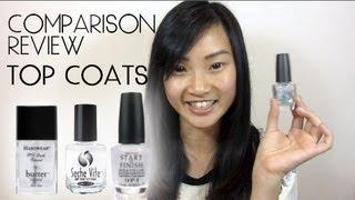Comparison Review ♥ Nail Polish Top Coats