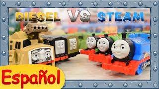 Diesel vs Steam | Desafío Buffer-to-Buffer | TrackMaster | Thomas y sus Amigos