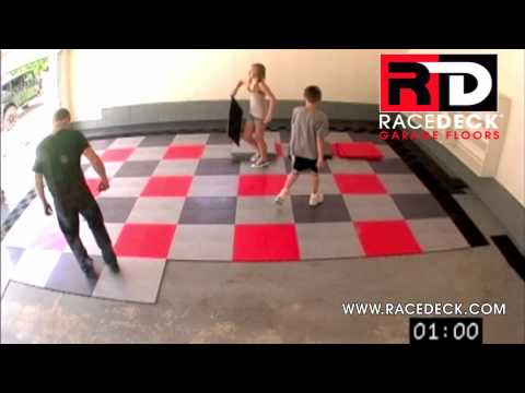 Racedeck 174 Garage Floor Installation How To Time Lapse