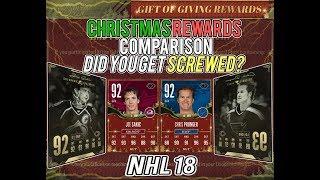 "NHL 18 HUT | Christmas Legends ""Gift of Giving"" Rewards Comparison"