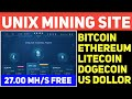 New mining site  How to earn 0.001 BTC = 11$ for free