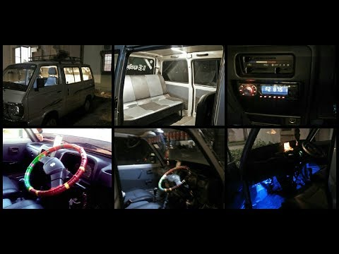 Modified on maruti Suzuki omni van 2018 model   stereo,Lights,stearing cover etc.