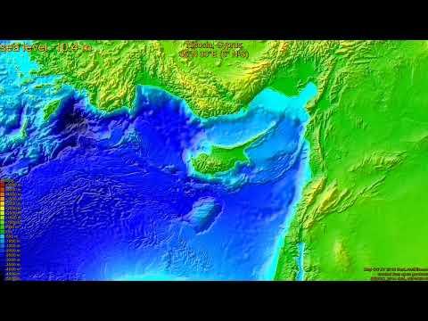 Nicosia, Cyprus, sea level rise -135 - 65 m