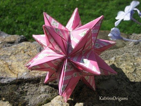 New origami revealed flower pop up star tv my origami transformer 3d origami flower revealed star pop up kusudama mightylinksfo
