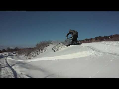 Intrak Prototype Tracksled Snow Machine Demo