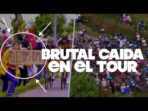 CAIDA BRUTAL TOUR | Marc Soler 2 BRAZOS ROTOS | etapa 1 Tour Francia