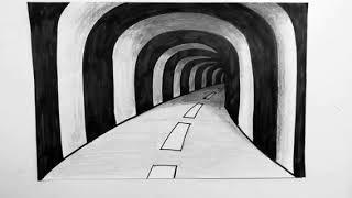 3 boyutlu tünel cizimi