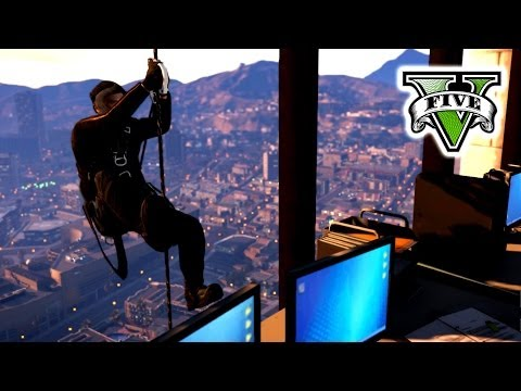 GTA 5 BIG BaNK Job Live Stream - GTA V Trevor VS Michael Cam
